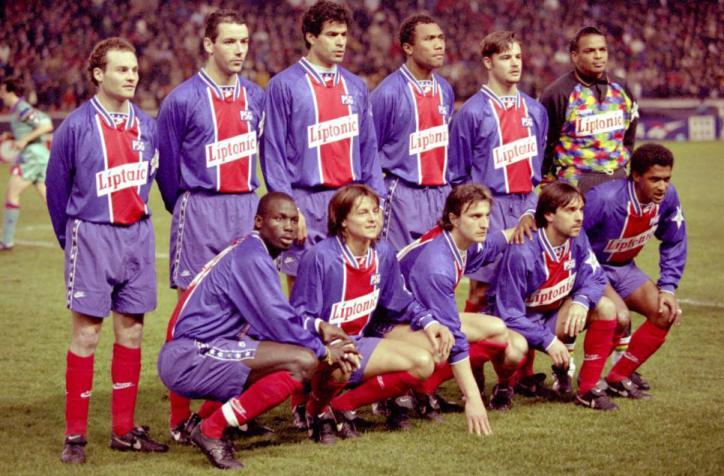 Лига Чемпионов 1994-95. 1/4 финала Ответный матч. ПСЖ (Париж, Франция) - ФК Барселона (Испания) - 2:1