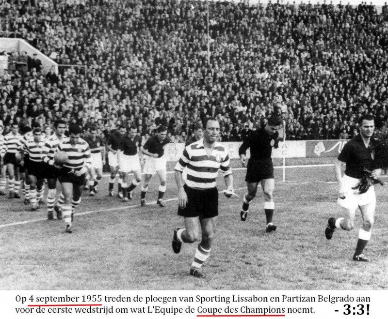 1. Sporting C.P. Lisboa (POR) - F.K. Partizan Beograd (YUG) 3:3